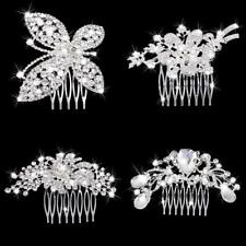 Diamante Wedding Bridal Crystal Rhinestone Hair Comb Clip Pin Bridal Headpieces