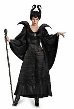DISNEY MALEFICENT CHRISTENING BLACK GOWN ADULT DELUXE MOVIE COSTUME COSPLAY S-XL