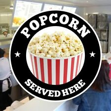 Popcorn Catering Sign Window Cafe Restaurant Stickers Graphics Vinyl Decal