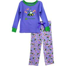 John Deere Tractor Girls Pajamas PJ Set FG2987V (Little Kid/Big Kid)