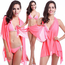2015 Summer Women's Sexy Cover Up Bikini Beach Gauze Skirt Swimwear Swimsuit Bra