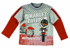 Harley-Davidson Baby Infant Boy Motorcycle T-Shirt - Biker Long Sleeve