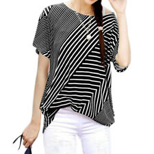 Woman Printed Scoop Neck Short Sleeves Shirred Sides Tunic Top