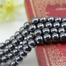 Lots Black Smooth Magnetic Hematite Spacer Bead Jewelry Findings 4/6/8/10/12mm