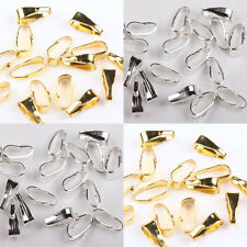 100Pcs Silver/Gold Plated Tone Copper Pendant Necklace Connectors 6mm