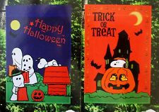 """New Paenuts SNOOPY Halloween Garden Flag 12x18""""  choose from 2 designs"""
