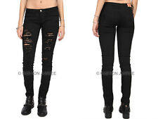 *BLACK 31 RIPPED DISTRESSED JEANS Skinny Denim Stretch Destroyed PLUS SIZE 13-21
