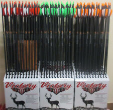 6 VICTORY Buck Buster CARBON arrows 350 400 500    CUT TO LENGTH & FREE INSERTS
