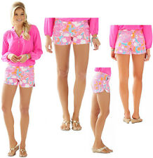 $68 Lilly Pulitzer Adie Shorely Blue Feeling Tanked Print Pique Shorts