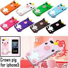 3D Cute Cartoon Pig Piggy Soft Silicone Skin Case Cover For Apple iPhone 5 5S