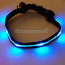 Dog Pet LED Flashing Light Nylon Safety Collar 3 Color