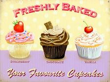 New Freshly Baked Your Favourite Cupcakes Metal Tin Sign