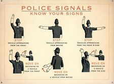 New Vintage Advertisement Police Signals Metal Tin Sign