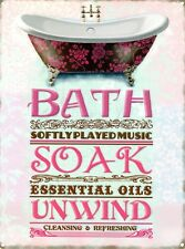 New The Ultimate Relaxation Bath, Soak, Unwind Metal Tin Sign