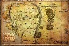 New The Hobbit And The Lord Of The Rings Map Of Middle Earth Poster