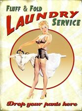 New Drop Your Pants Here Laundry Service Metal Tin Sign