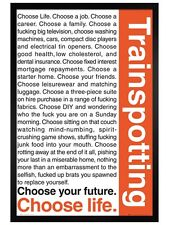 Trainspotting Black Wooden Framed Choose your Life Maxi Poster 61.5x91.5cm