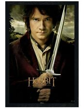 The Hobbit Black Wooden Framed Martin Freeman is Bilbo Baggins Poster 61x91.5cm