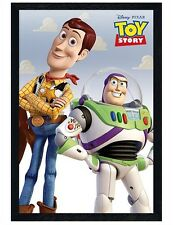 Toy Story Black Wooden Framed Woody & Buzz Maxi Poster 61x91.5cm