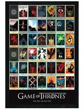 Game of Thrones Black Wooden Framed Episodes GoT Maxi Poster 61x91.5cm