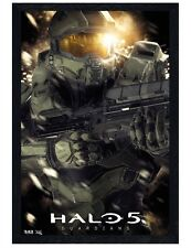 Halo 5 Guardians Black Wooden Framed Master Chief Maxi Poster 61x91.5cm