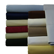 Twin XL Cotton sheets 600 Thread Count Solid Collection