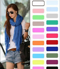 New Crinkle Womens Long Candy colors Neck Scarf Wraps Shawl Stole Soft Scarves 1