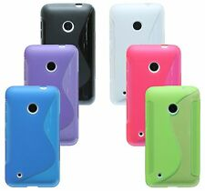 Nokia Lumia 530 Shell Mobile Phone Case Pouch Silicone Protector Gel + Screen