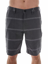Hurley Walk Shorts Corman Reverb grey striped Pockets Button