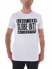 Globe T - Shirt Tee Top Parental White Crewneck Short Sleeve Lettering