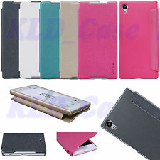 Original Nillkin PU Leather Flip Wallet Case Smart Cover For Sony Xperia Z5 5.2""