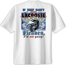 Lacrosse in Heaven T-Shirt Jersey Short Sleeve Tee New Adult and Youth Sizes