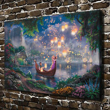 HD Giclee Print -Thomas Kinkade - Tangled Rapunzel Art Canvas wall decor picture