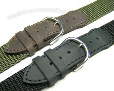 19mm Generic Leather Nylon Watch Band Strap for Army Original 24220 24221 24378