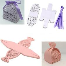 20PCS Delicate Carved Pink/Purple Elegant Romantic Candy Boxes for Wedding G36P