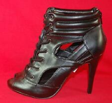 Womens ROCK REPUBLIC CARLINA Black Lace High Heel Fashion Dress Boots Shoes