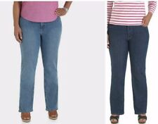 Riders by Lee Womens Plus-Size Relaxed Fit Straight-Leg Jeans Flex Stretch Slims