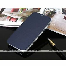 Business PU Leather Flip Cover Skin Hard Case For Samsung Galaxy Note II 2 N7100