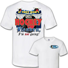 Hockey Played in Heaven Jersey T-Shirt  Short Sleeve Tee New Adult & Youth