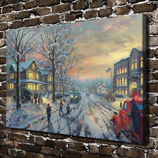 Thomas Kinkade A Christmas Story Art Canvas HD Giclee Print Wall decor picture