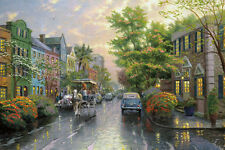 Thomas Kinkade Charleston, Sunset on Rainbow Art Canvas HD Print Home Wall decor