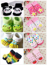 Cute Unisex Baby Kids 0-12 Months Toddler Girl Boy Anti-Slip Socks Shoes Slipper
