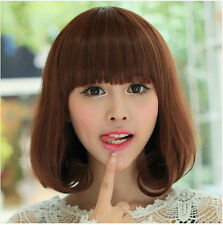 New Fashion Women Short Wavy Bob Hair Full Wig Cosplay Party Wigs Synthetic+Gift