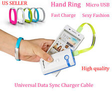 Hand Ring Universal MicroUSB Data Sync Charging Cable for HTC SAMSUNG BLACKBERRY
