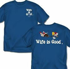 Wife is good dog walking - Blue - T-Shirt - Adult Sizes