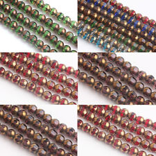 20/40Pcs Loose Spacer Beads Rondelle Faceted Crystal Glass Findings Charms 8mm