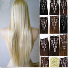 """20""""-24""""Clip In 100% Remy Full Head Hair Extension Human Hair Extensions 100/110g"""