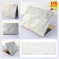 White Marble Matte Hard Case+Keyboard Cover for MacBook Air Pro 11.6 13.3-inch