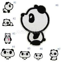 Panda Cartoon Embroidered Applique Cloth Iron On Sewing Patch DIY Accessories