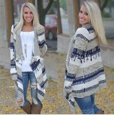 New hot Womens Cardigan Long Sleeve Knitted Sweater Outwear Loose Jacket Coat